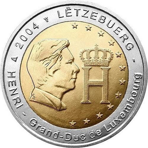 Люксембург 2 евро 2004  Герцог Люксембурга
