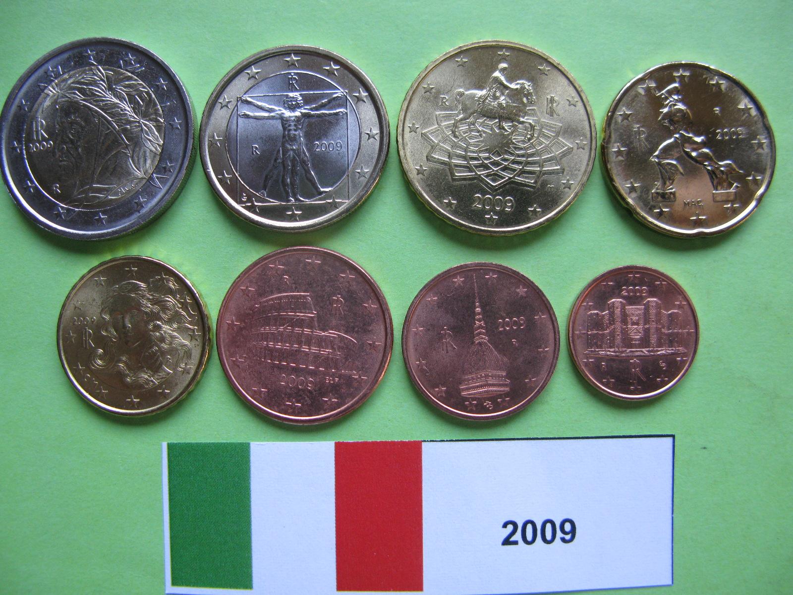 Италия набор евро 2009 UNC