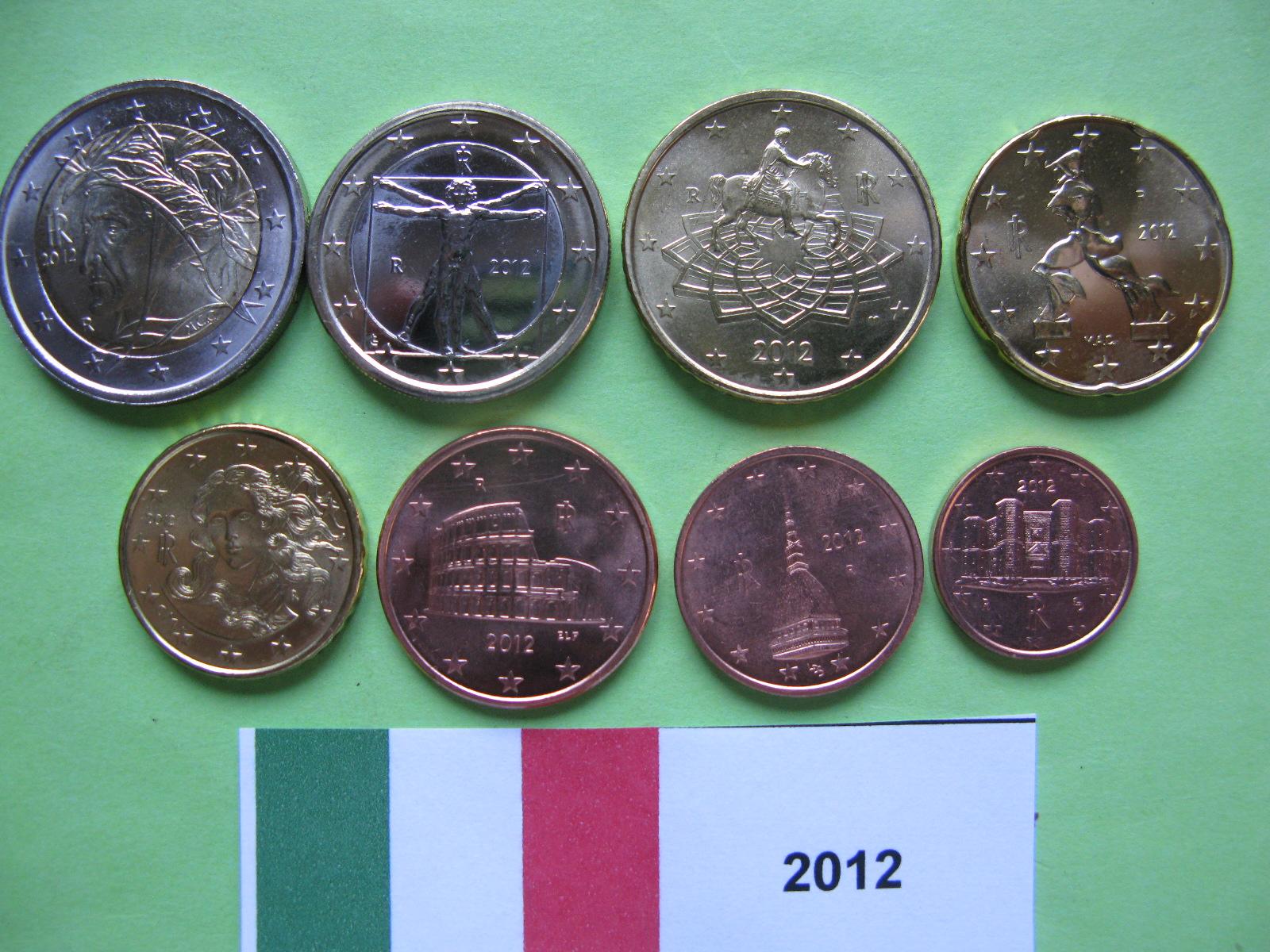 Италия набор евро 2012 UNC