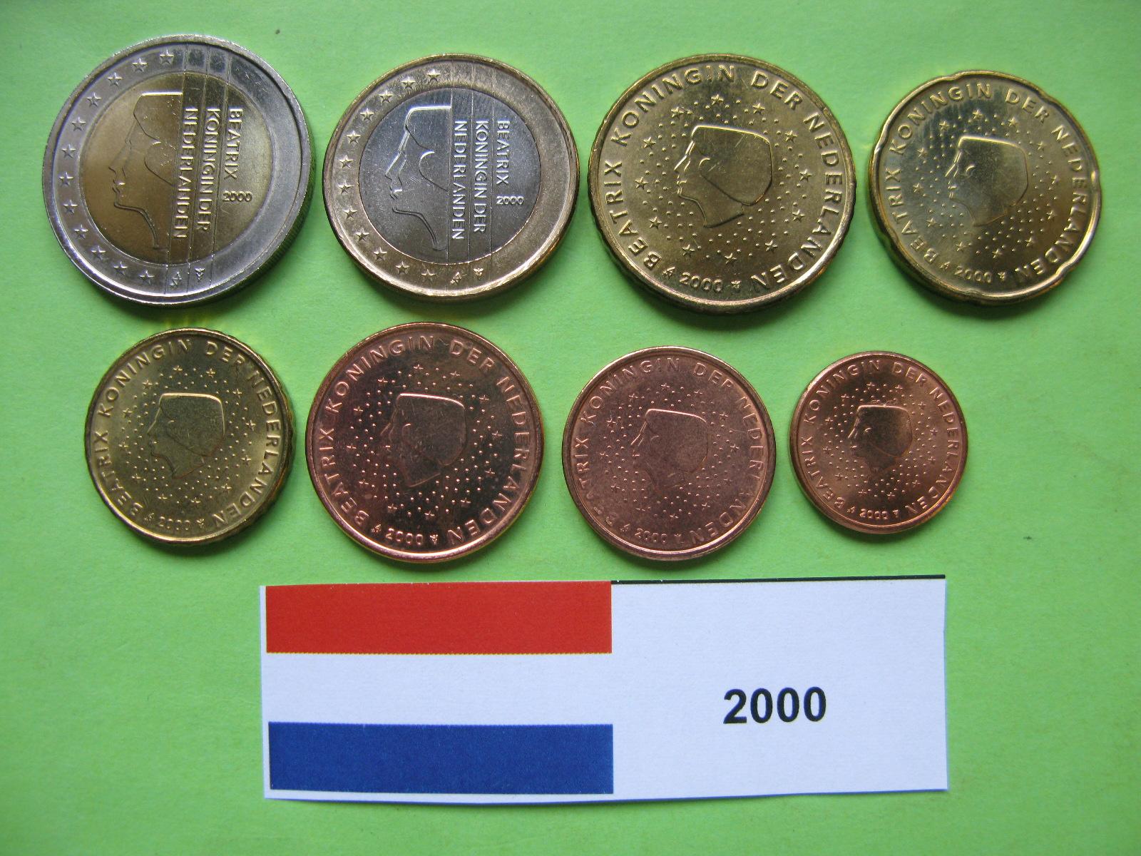 Нидерланды набор евро  2000 г. UNC