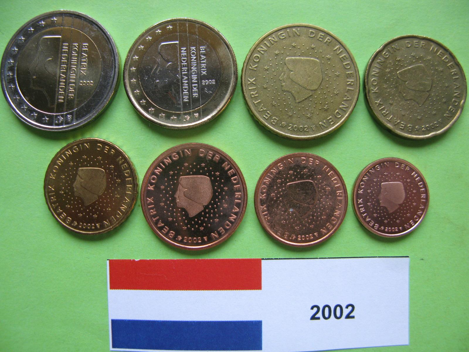 Нидерланды набор евро  2002 г. UNC