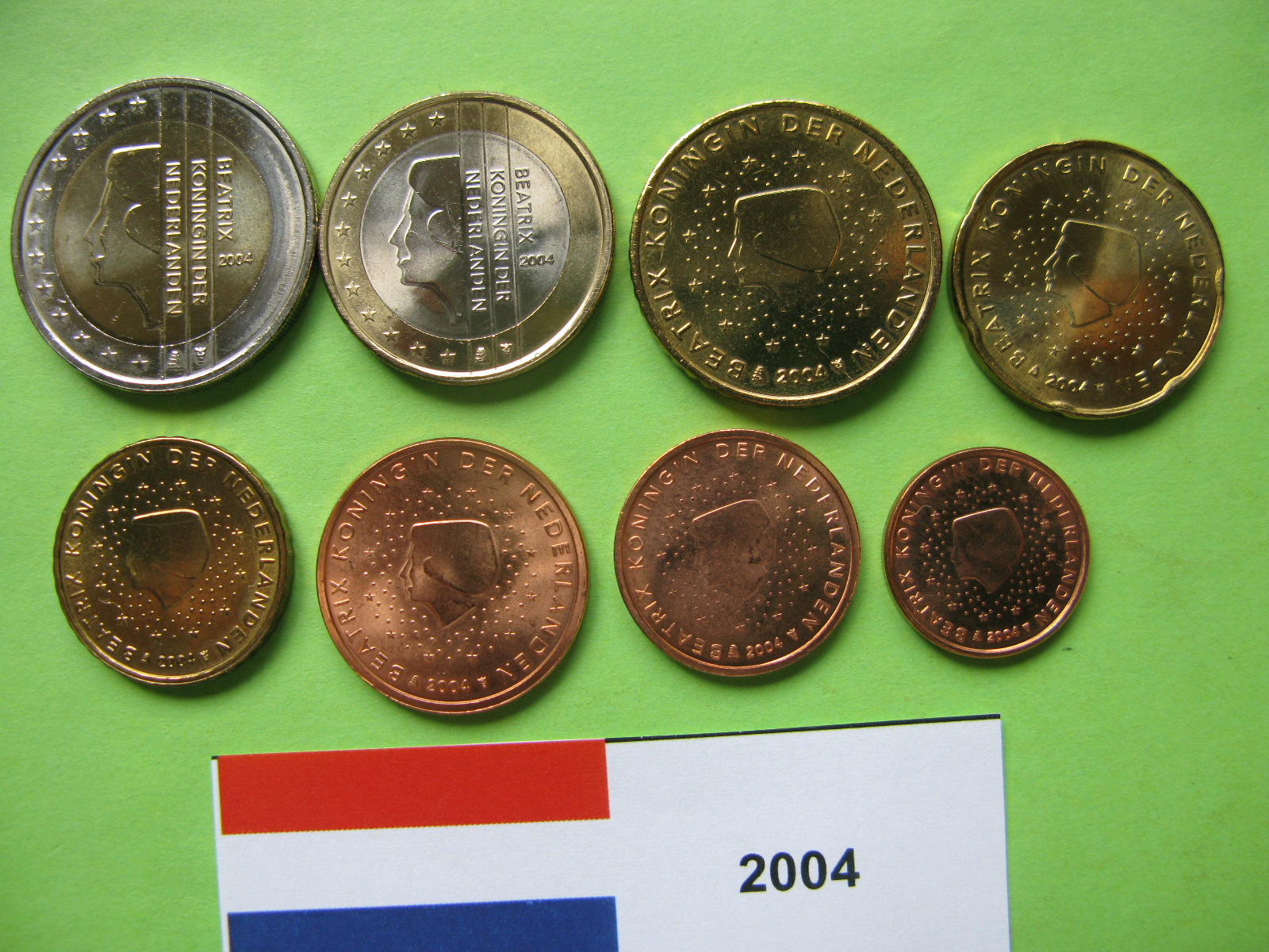 Нидерланды набор евро  2004 г. UNC