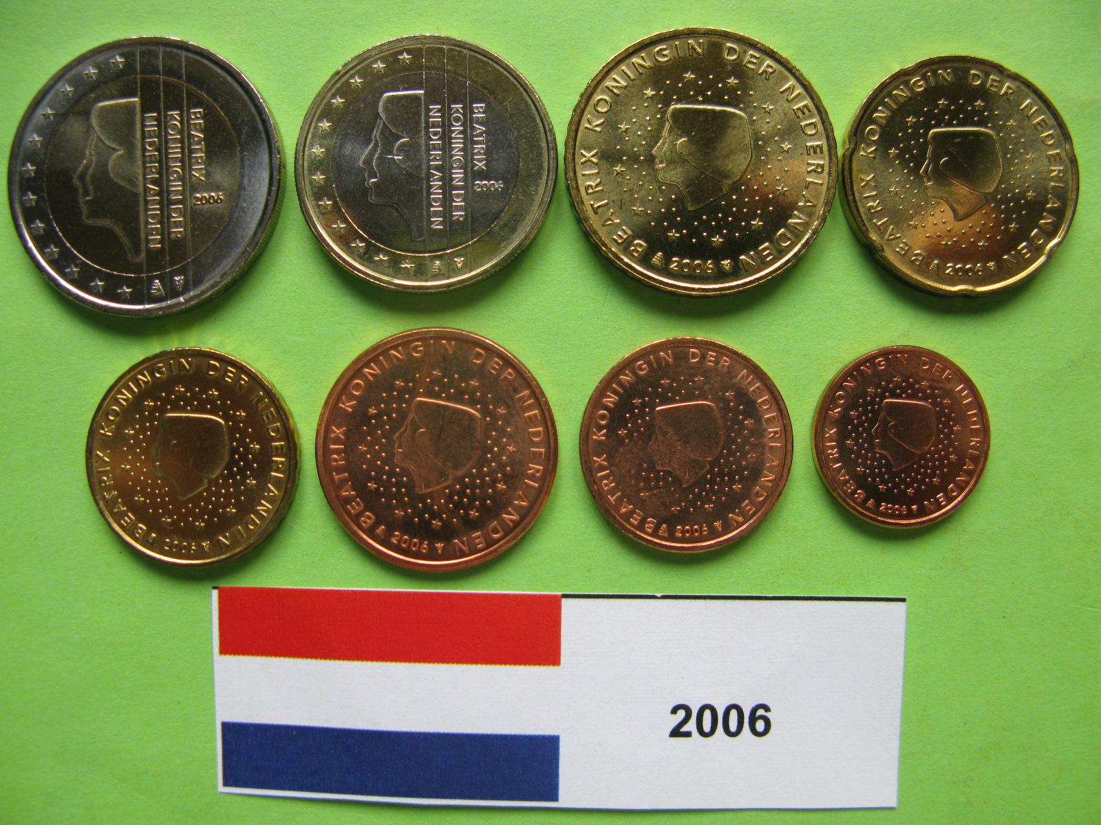 Нидерланды набор евро  2006 г. UNC