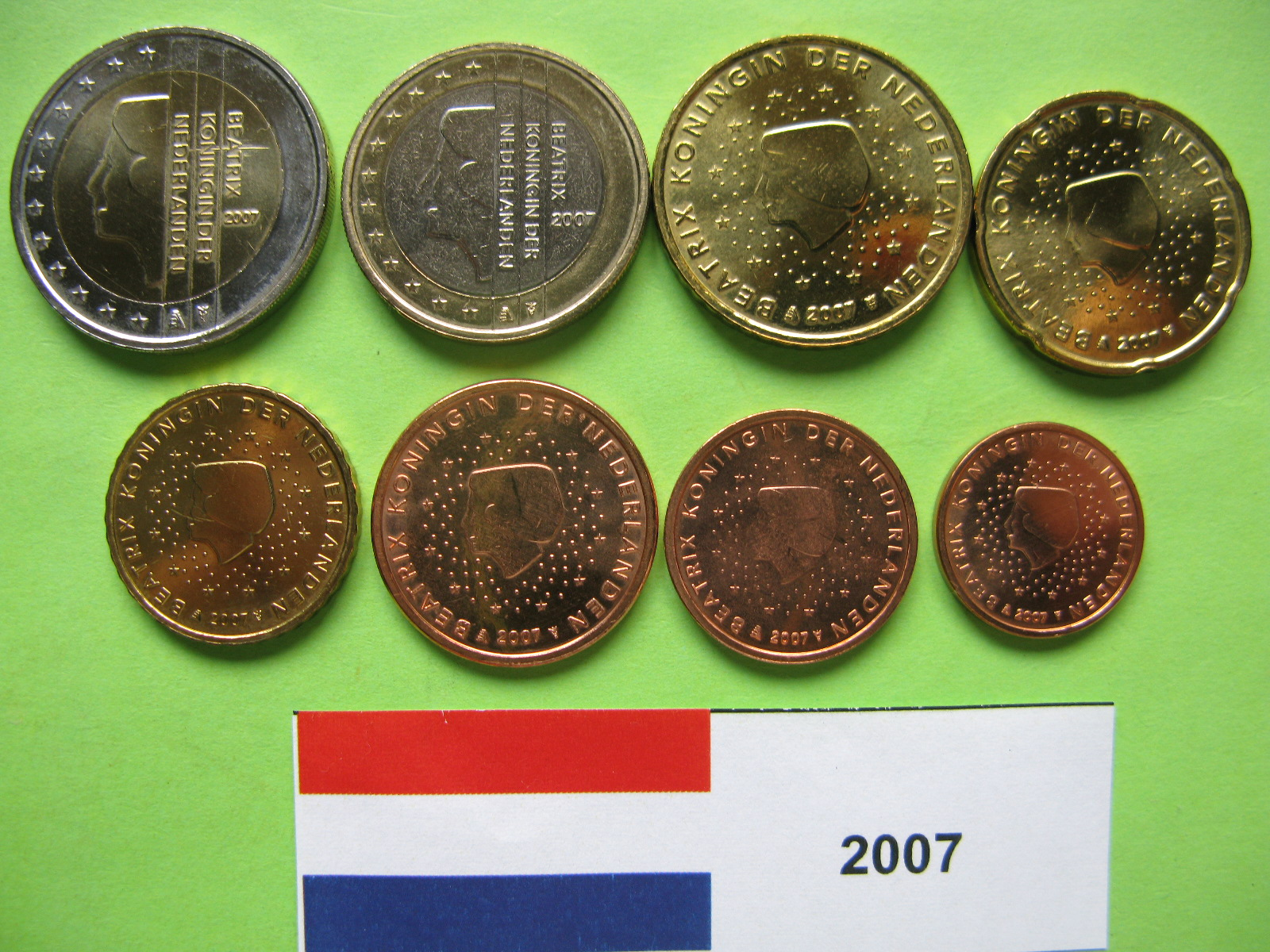 Нидерланды набор евро  2007 г. UNC
