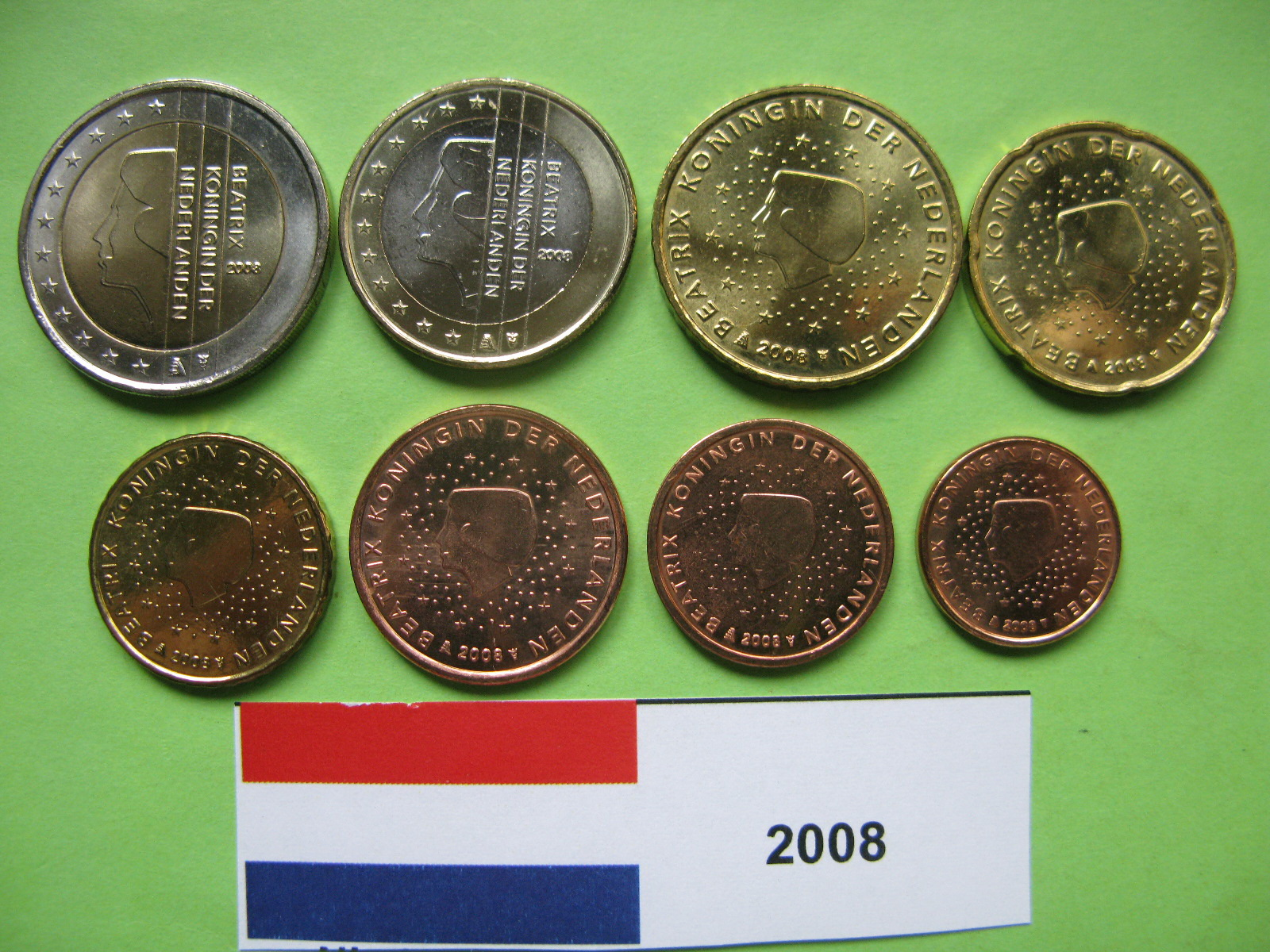 Нидерланды набор евро  2008 г. UNC