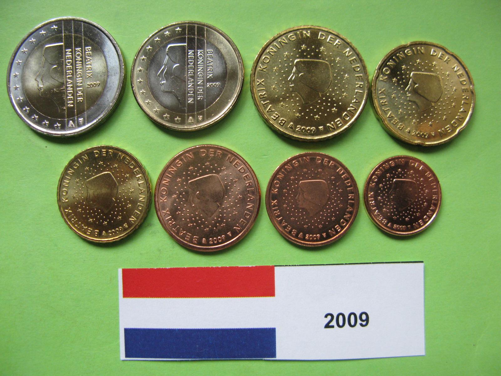 Нидерланды набор евро  2009 г. UNC