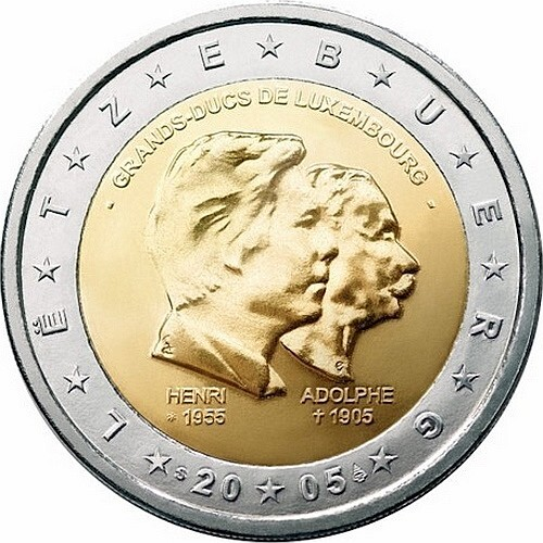 Люксембург 2 евро 2005   Три годовщины