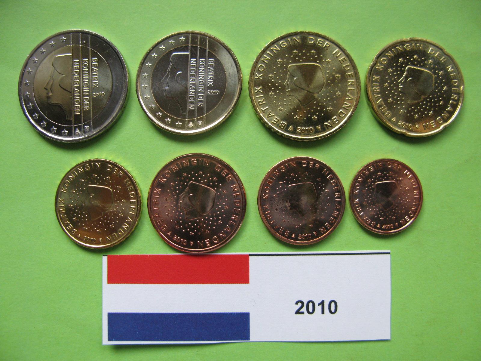 Нидерланды набор евро  2010 г. UNC