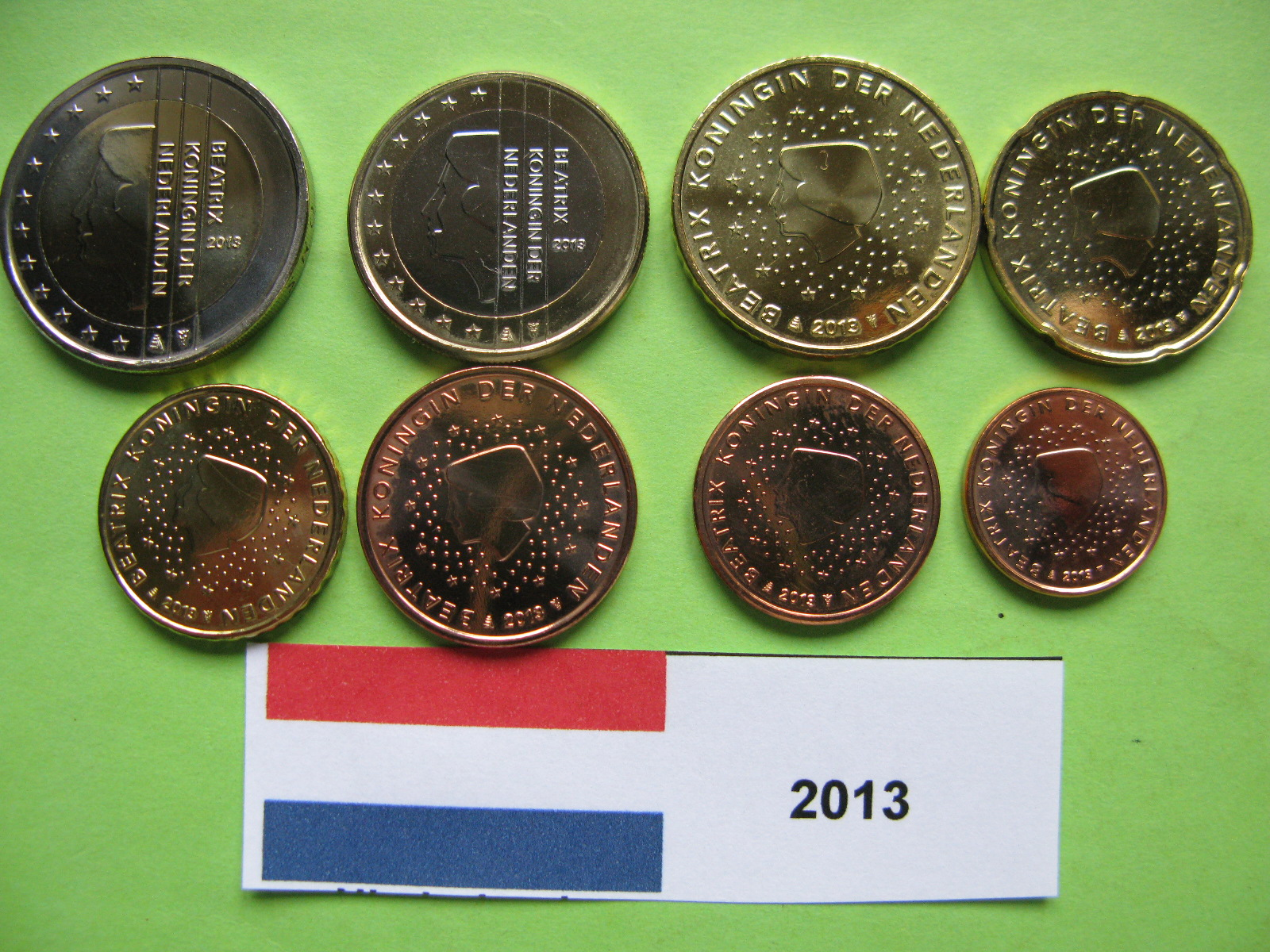 Нидерланды набор евро  2013 г. UNC