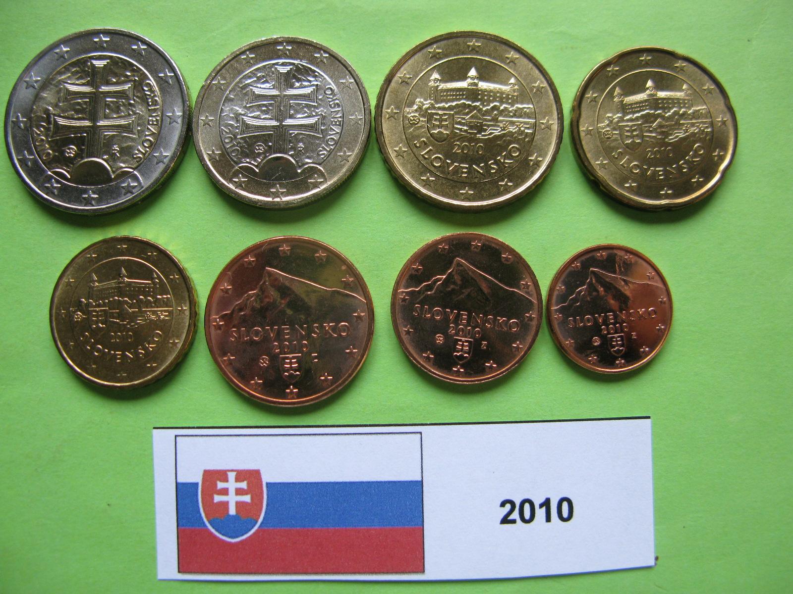 Словакия набор евро 2010  UNC