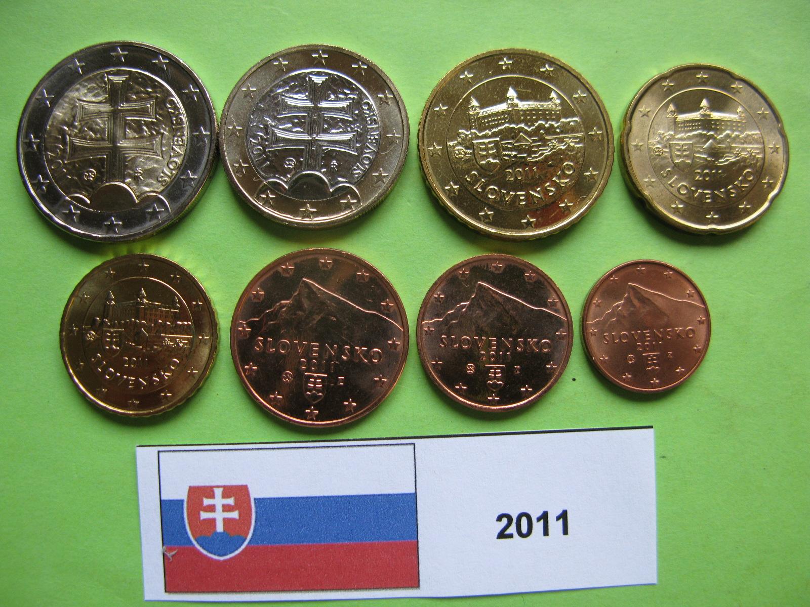 Словакия набор евро 2011  UNC