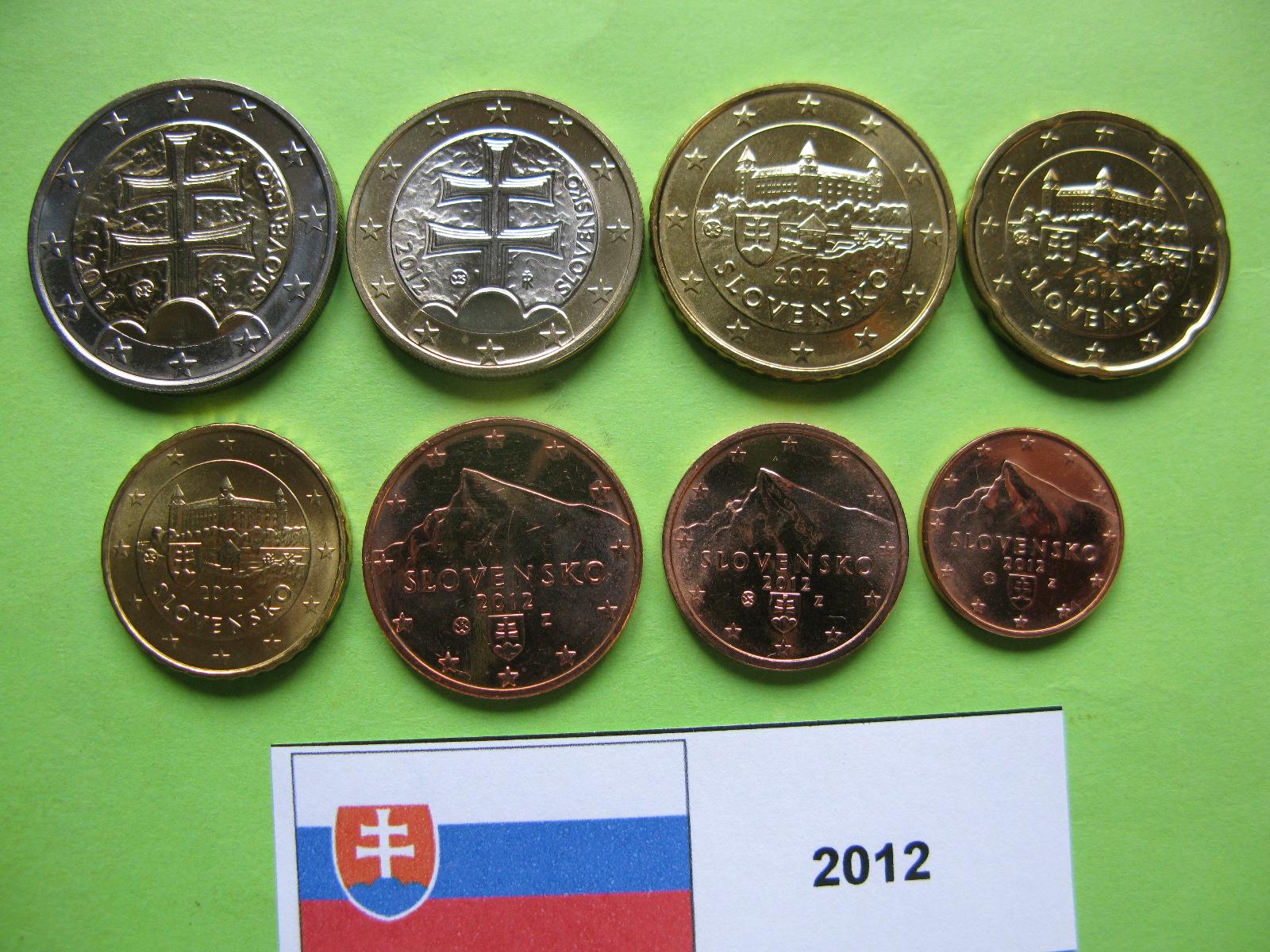 Словакия набор евро 2012  UNC