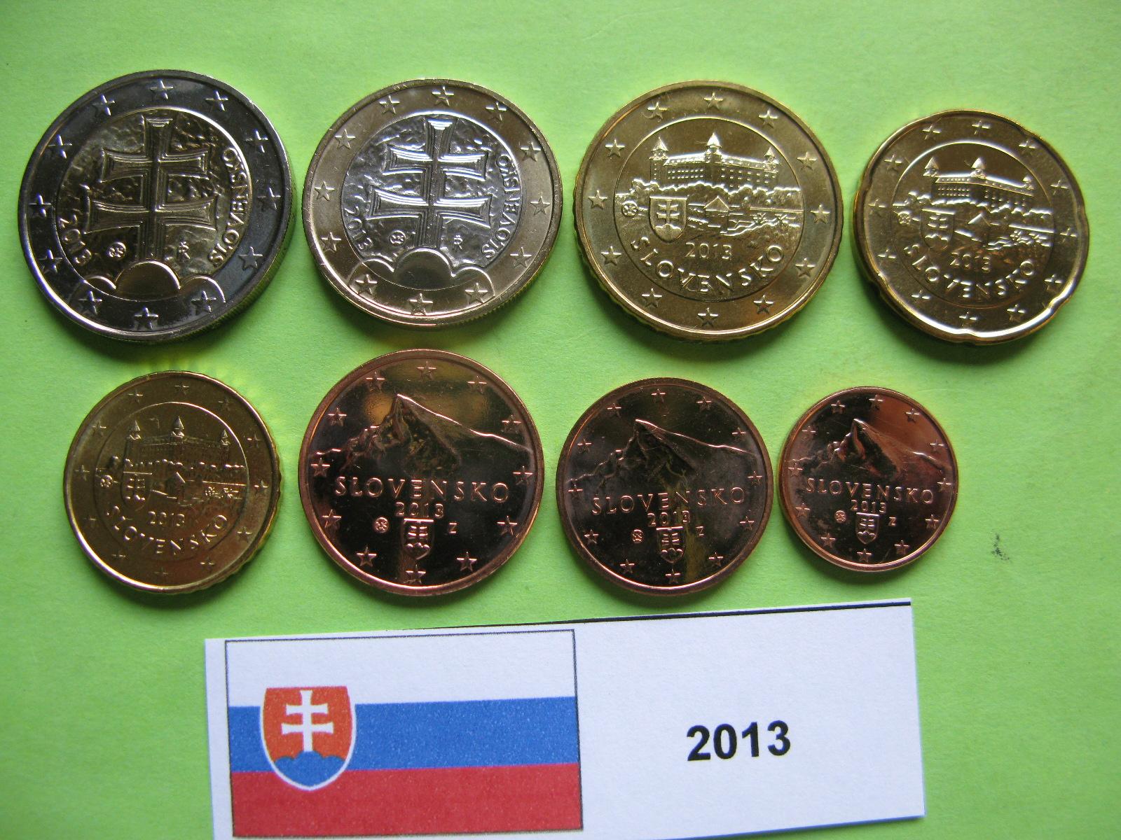 Словакия набор евро 2013  UNC