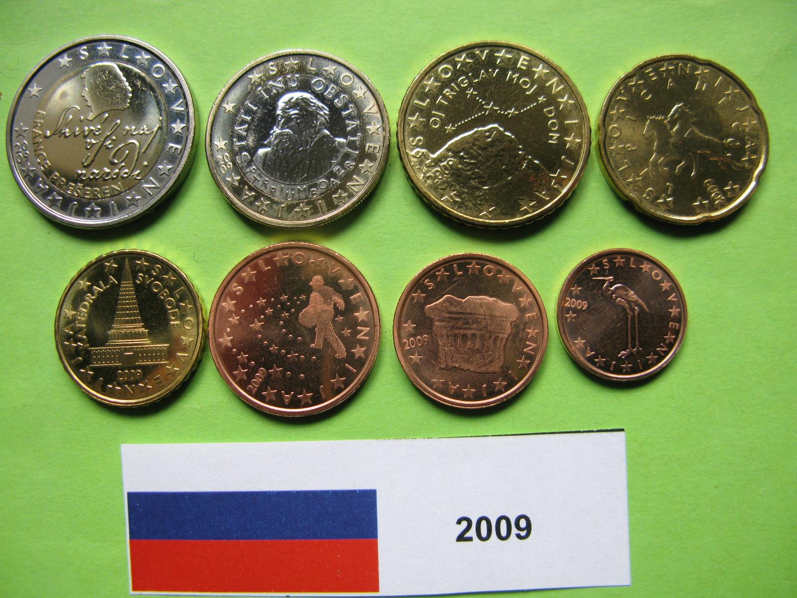 Словения набор евро 2009 г.  UNC