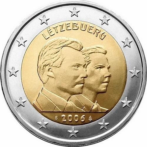 Люксембург 2 евро 2006   Принц Гийом