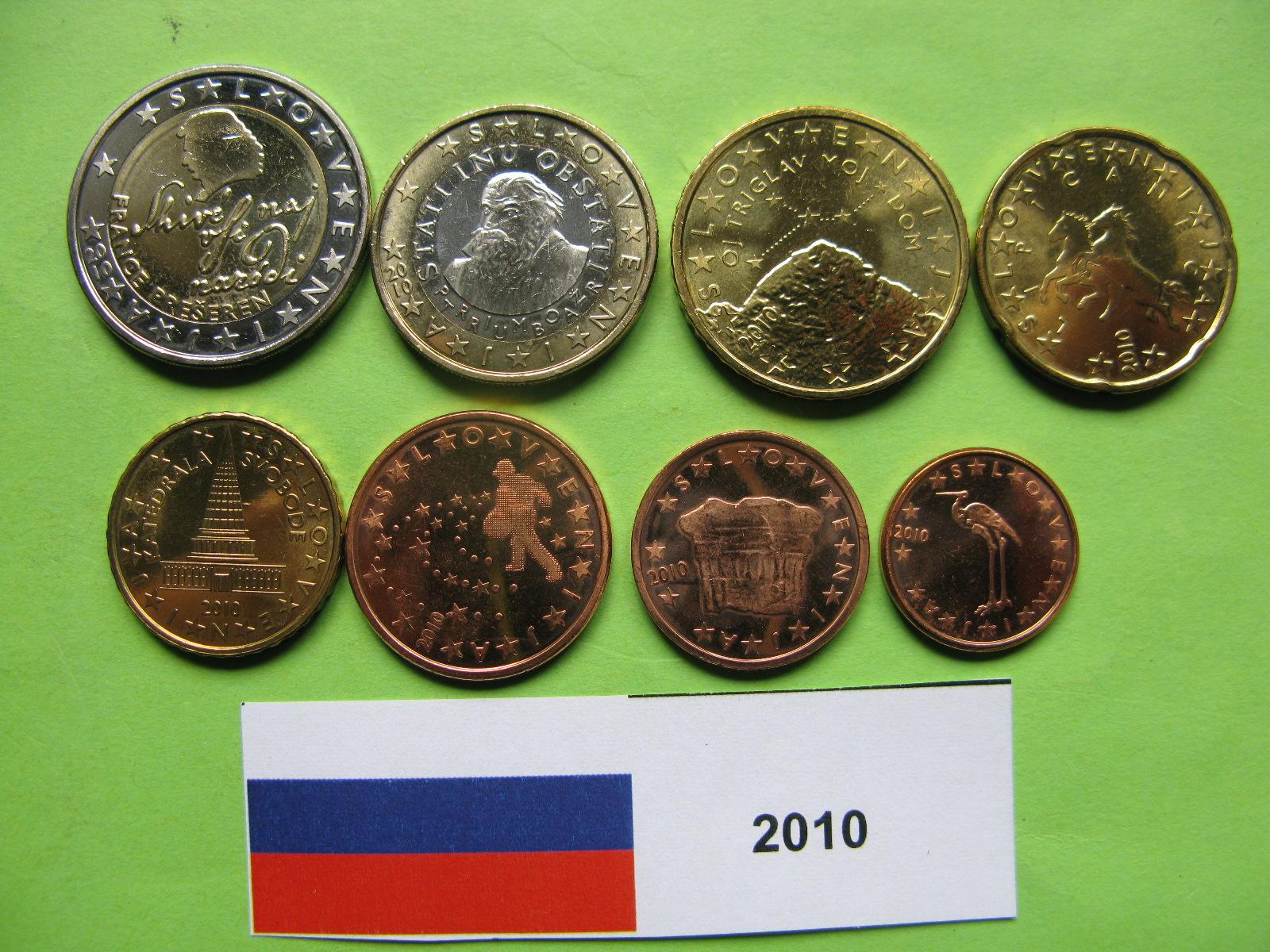 Словения набор евро  2010 г. UNC