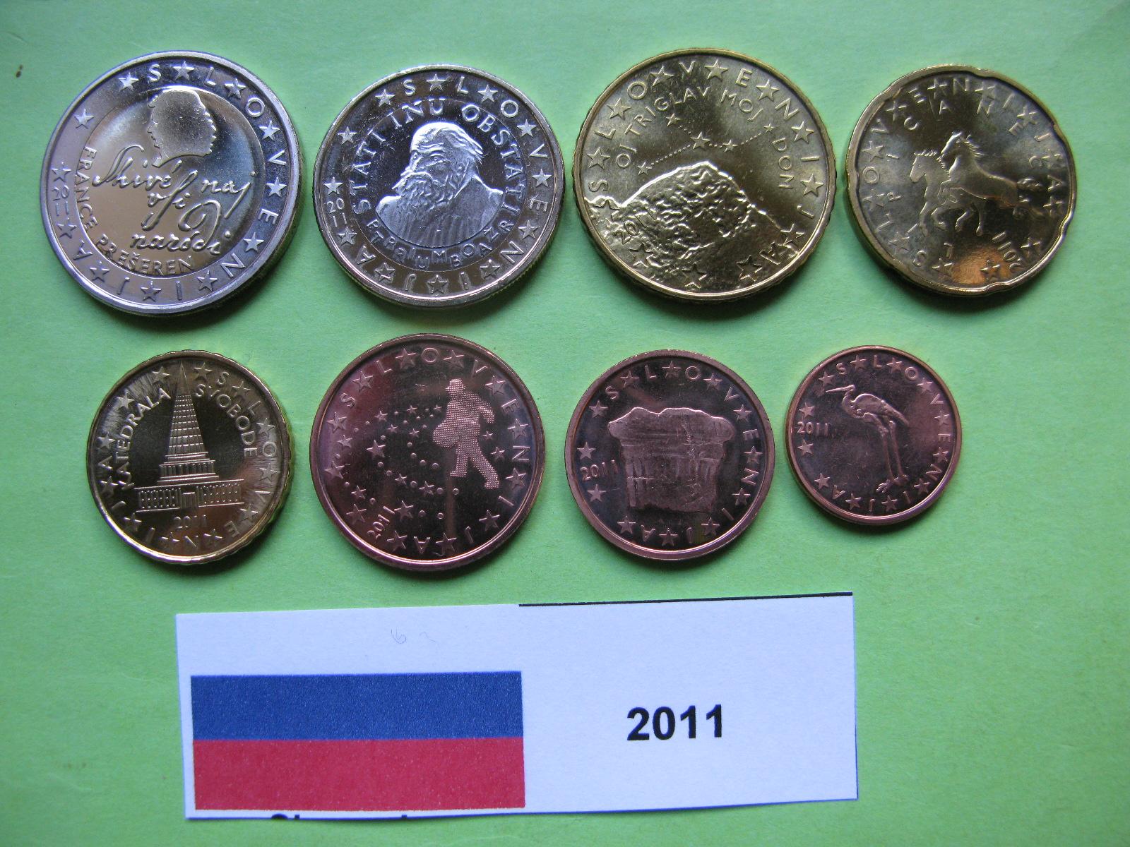 Словения набор евро  2011 UNC