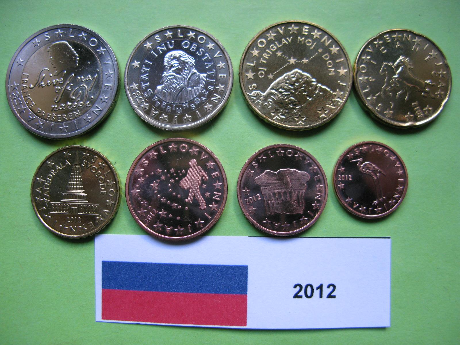 Словения набор евро  2012 г. UNC