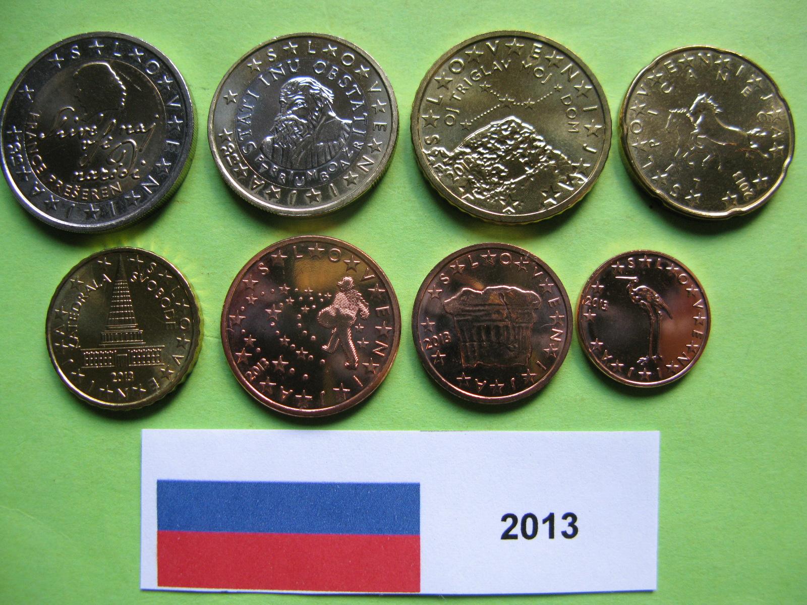 Словения набор евро  2013 г. UNC