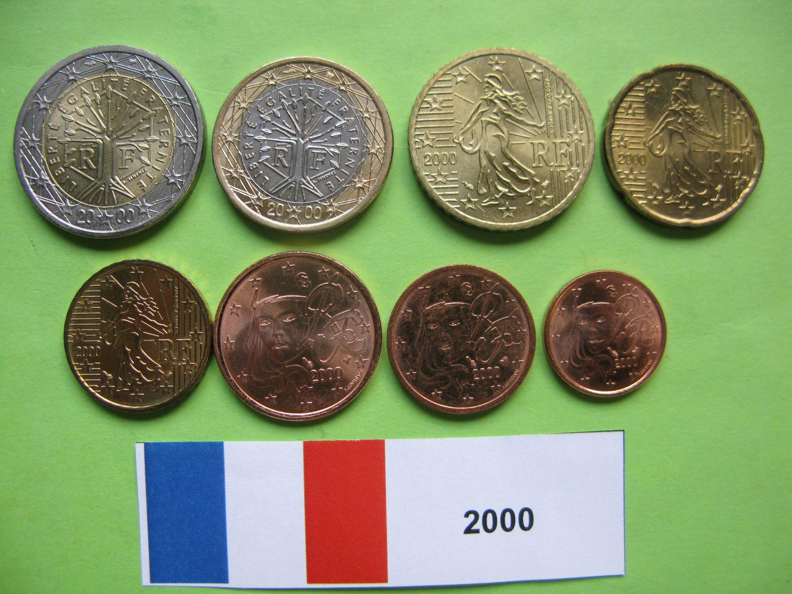 Франция  набор евро 2000 г. UNC