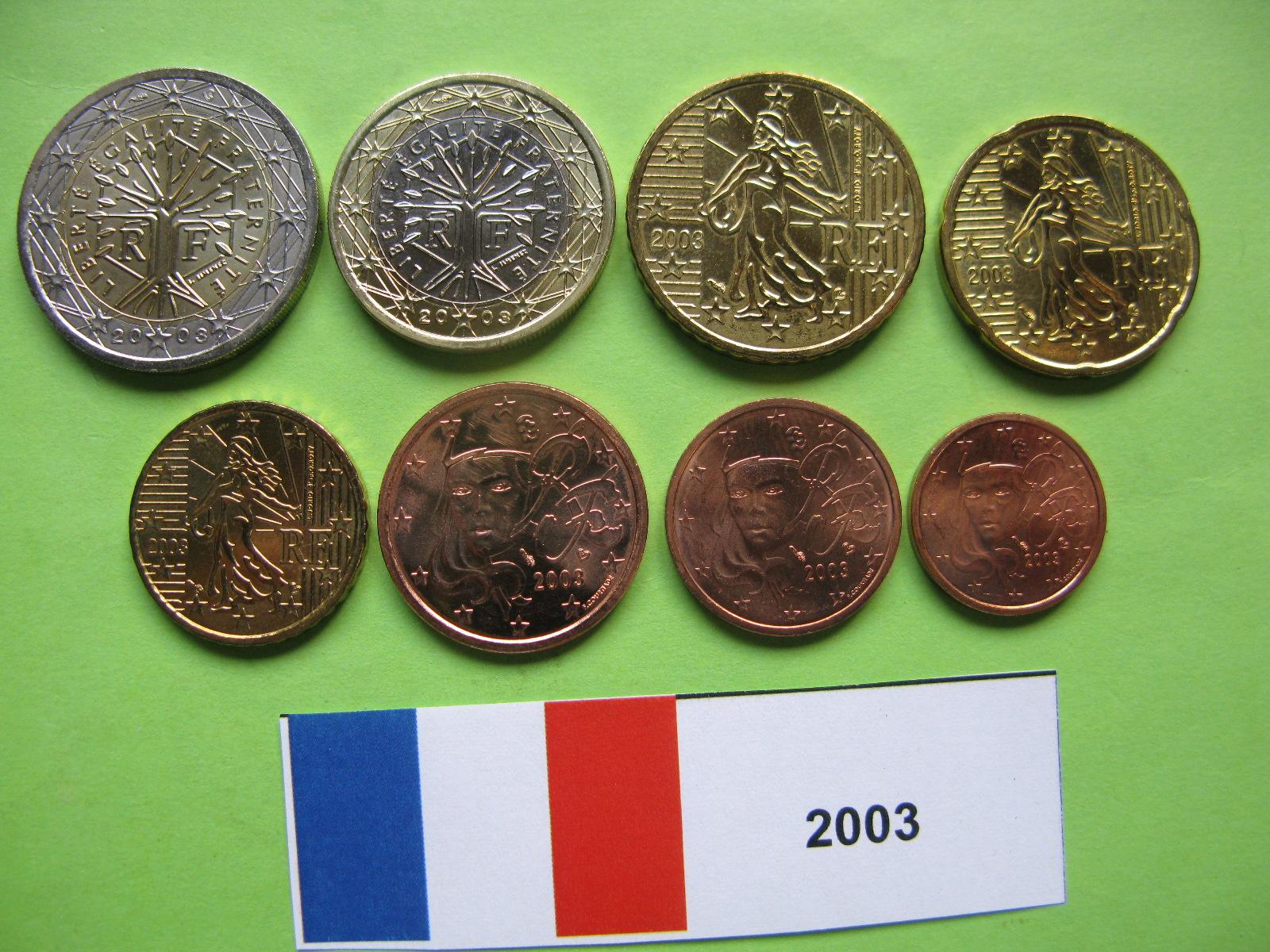 Франция  набор евро 2003 г. UNC
