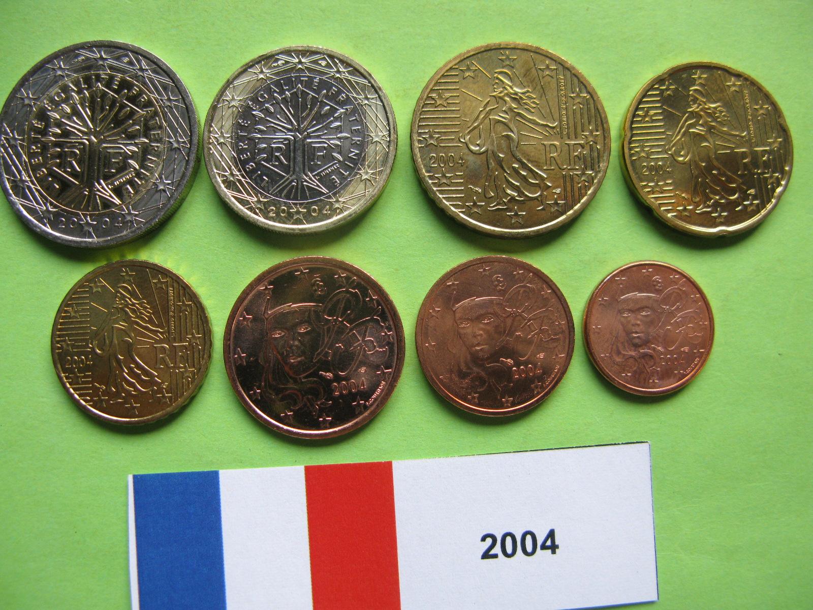Франция  набор евро 2004 г. UNC