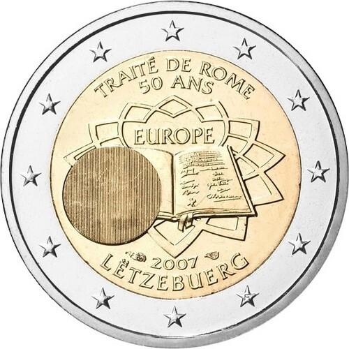 Люксембург 2 евро 2007  Римский договор