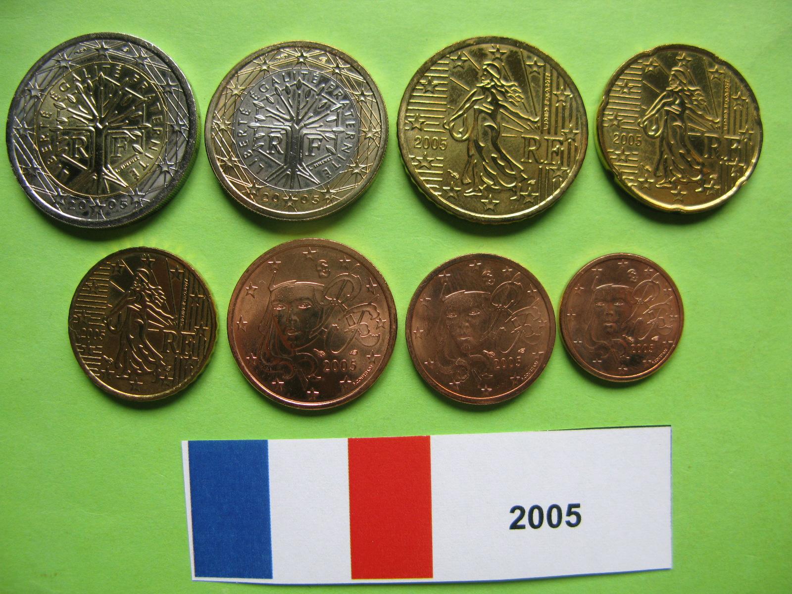 Франция  набор евро 2005 г. UNC