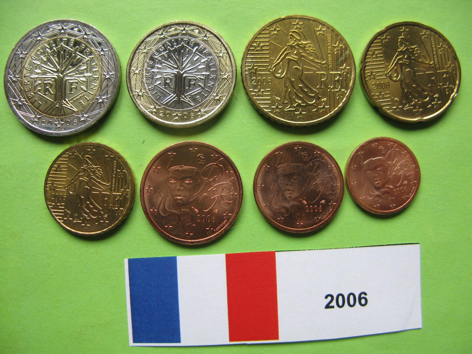 Франция  набор евро 2006 г. UNC