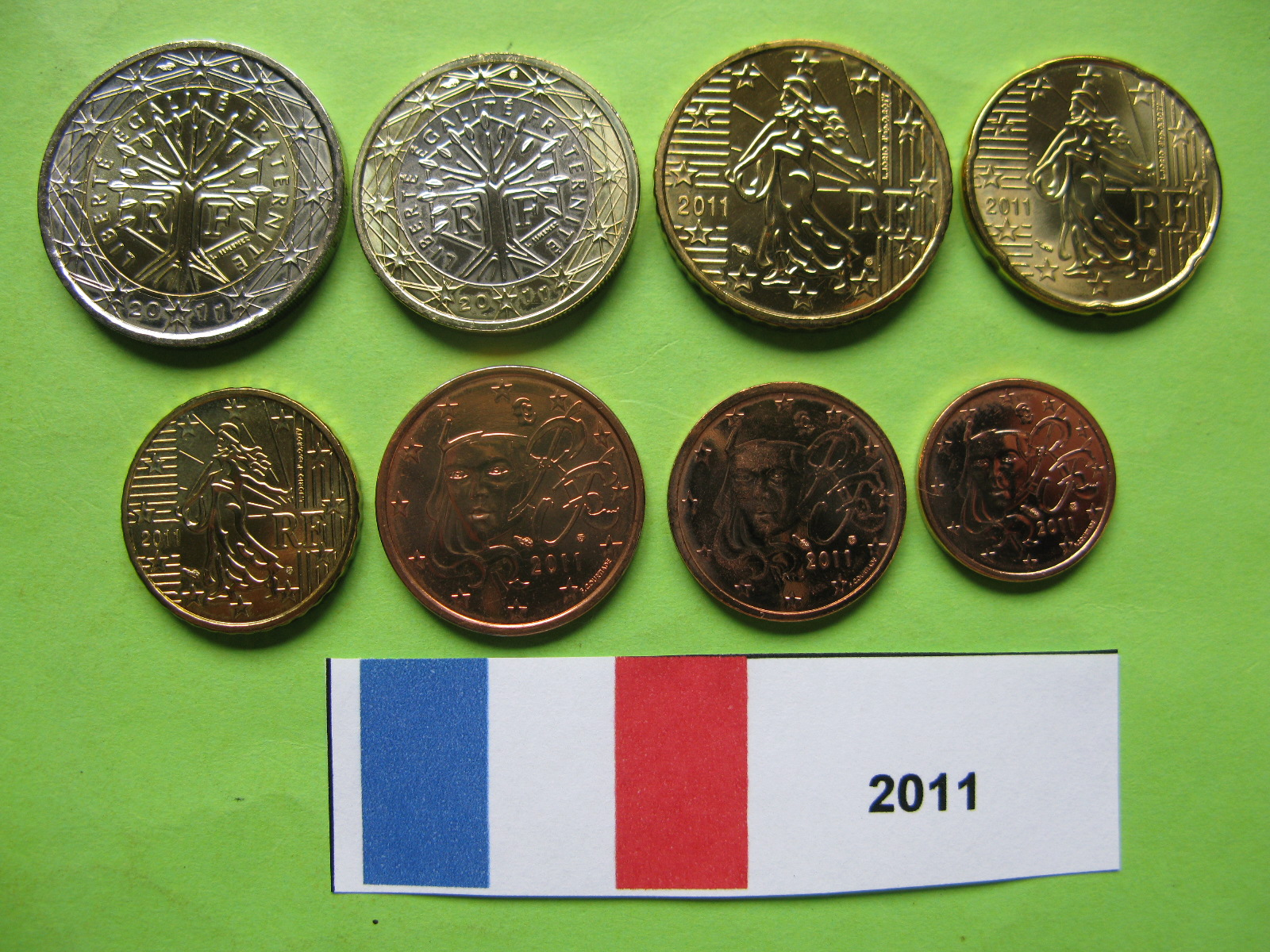 Франция  набор евро 2011 г. UNC