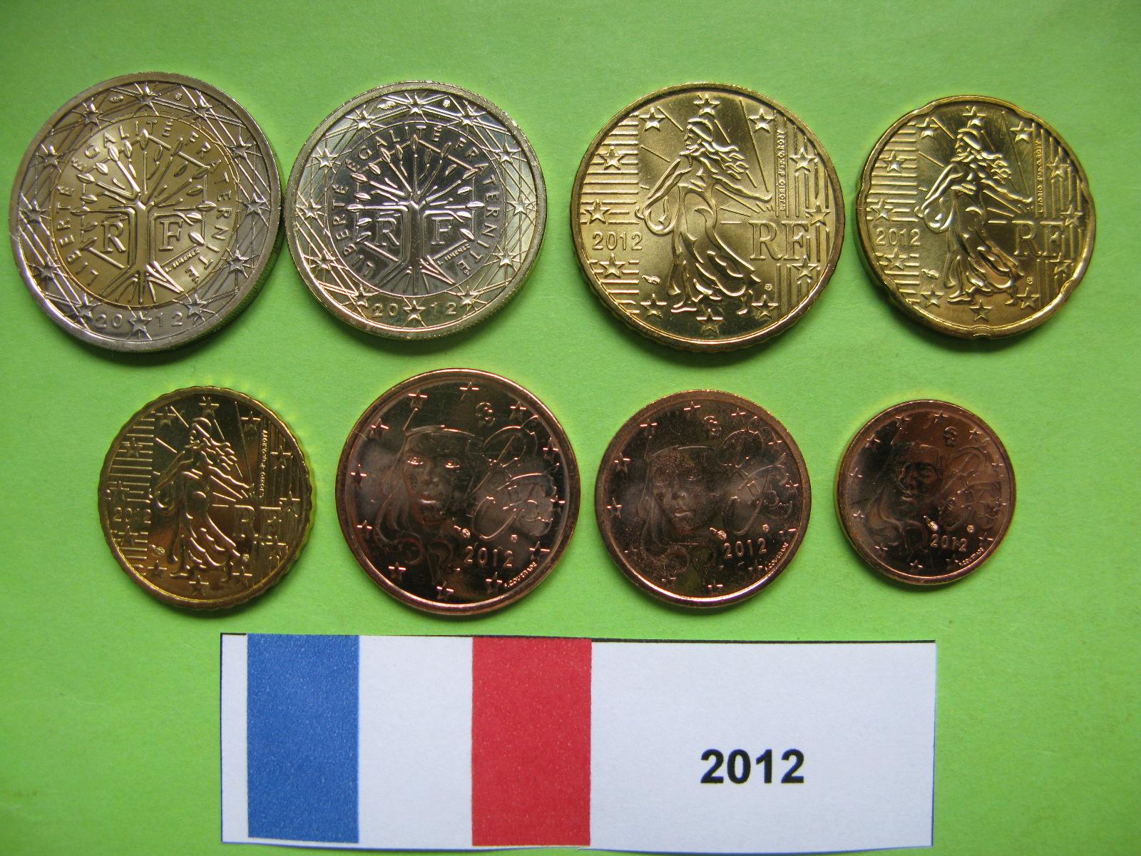 Франция  набор евро 2012 г. UNC
