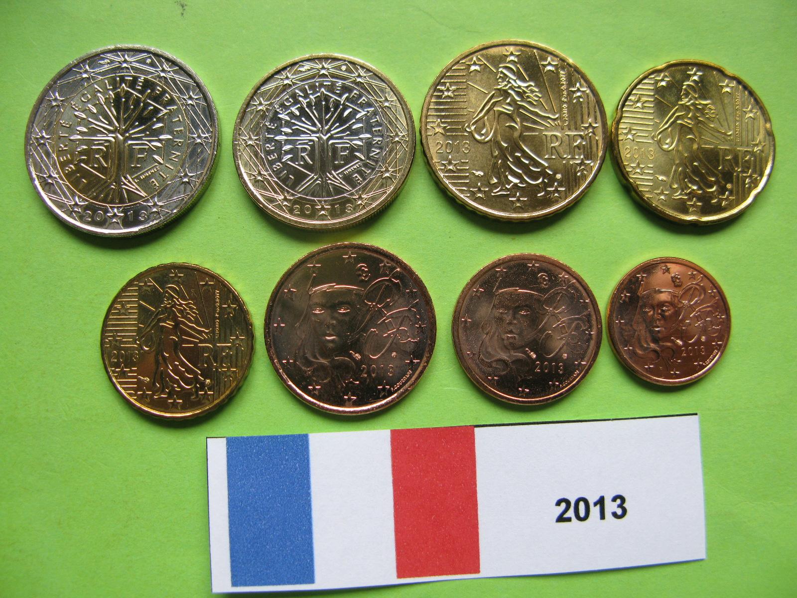 Франция  набор евро 2013 г. UNC