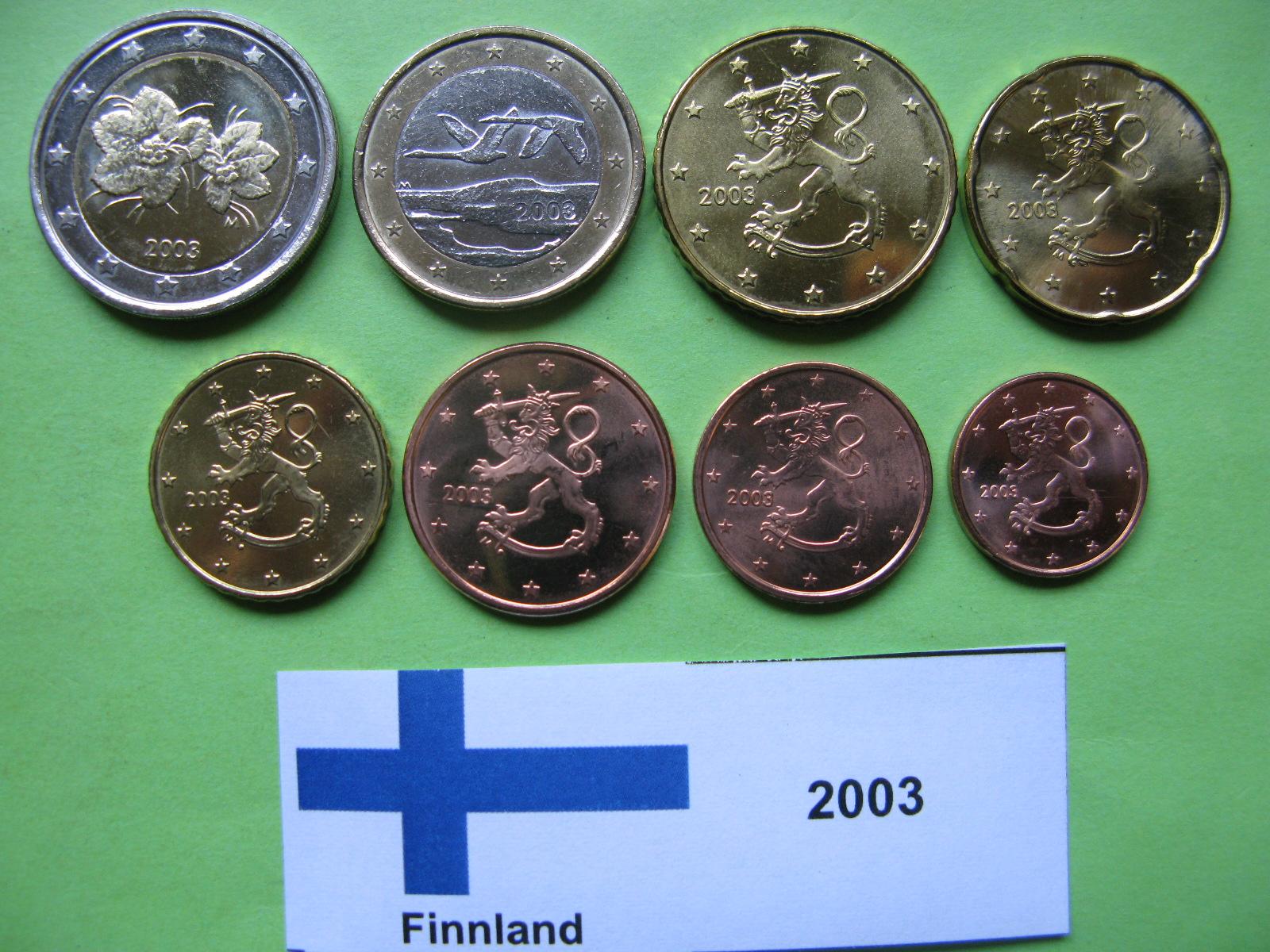 Финляндия набор евро 2003 г. UNC