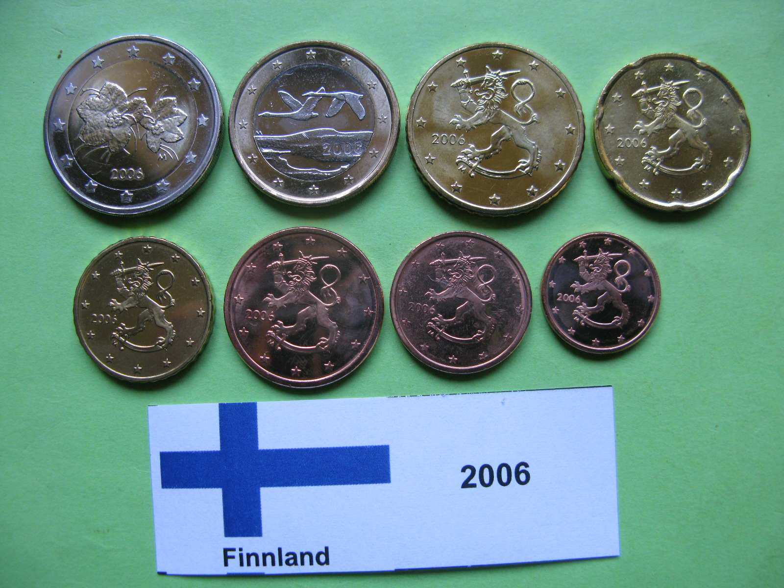 Финляндия набор евро 2006 г. UNC