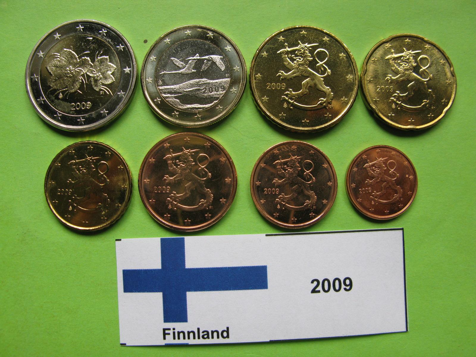 Финляндия набор евро 2009 г. UNC