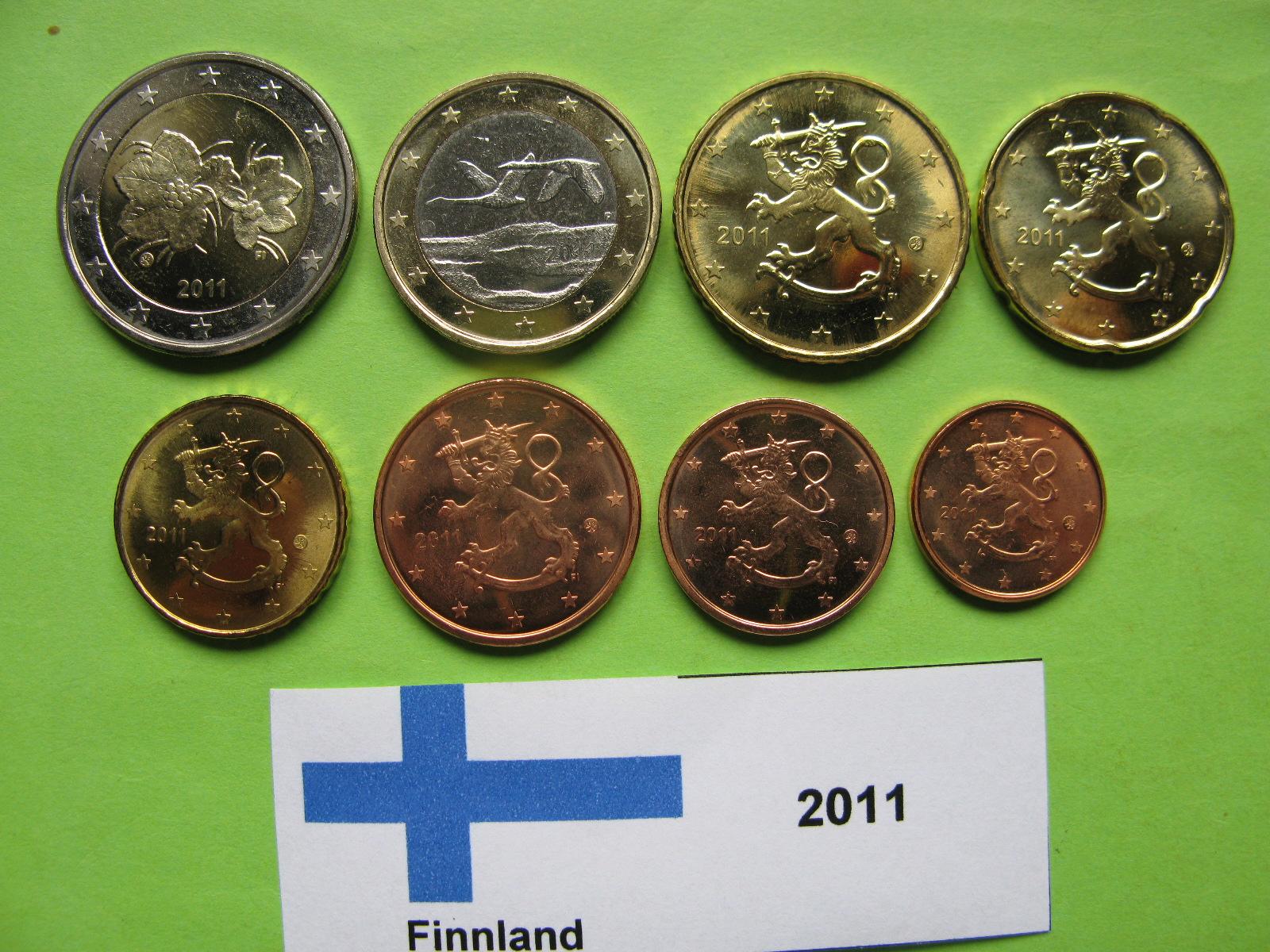 Финляндия набор евро 2011 г. UNC