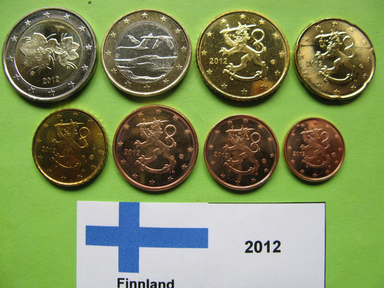 Финляндия набор евро 2012 г. UNC