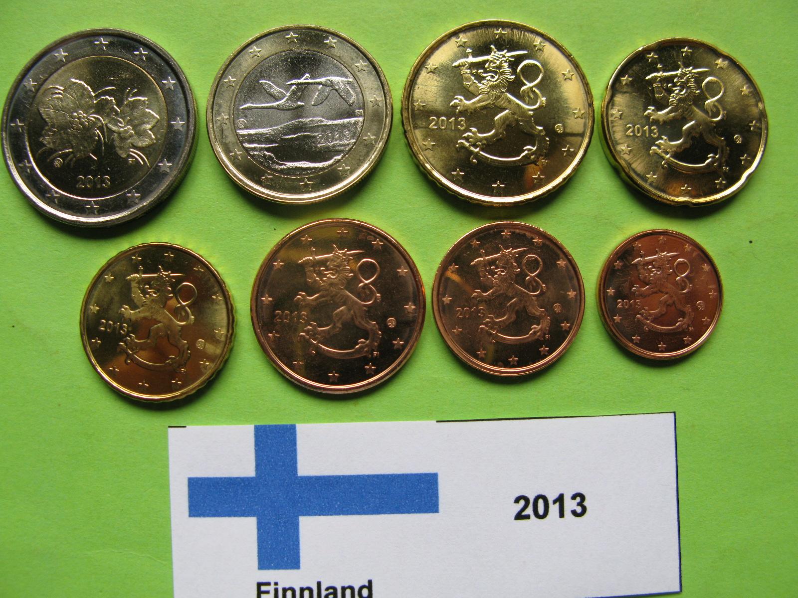 Финляндия набор евро 2013 г. UNC