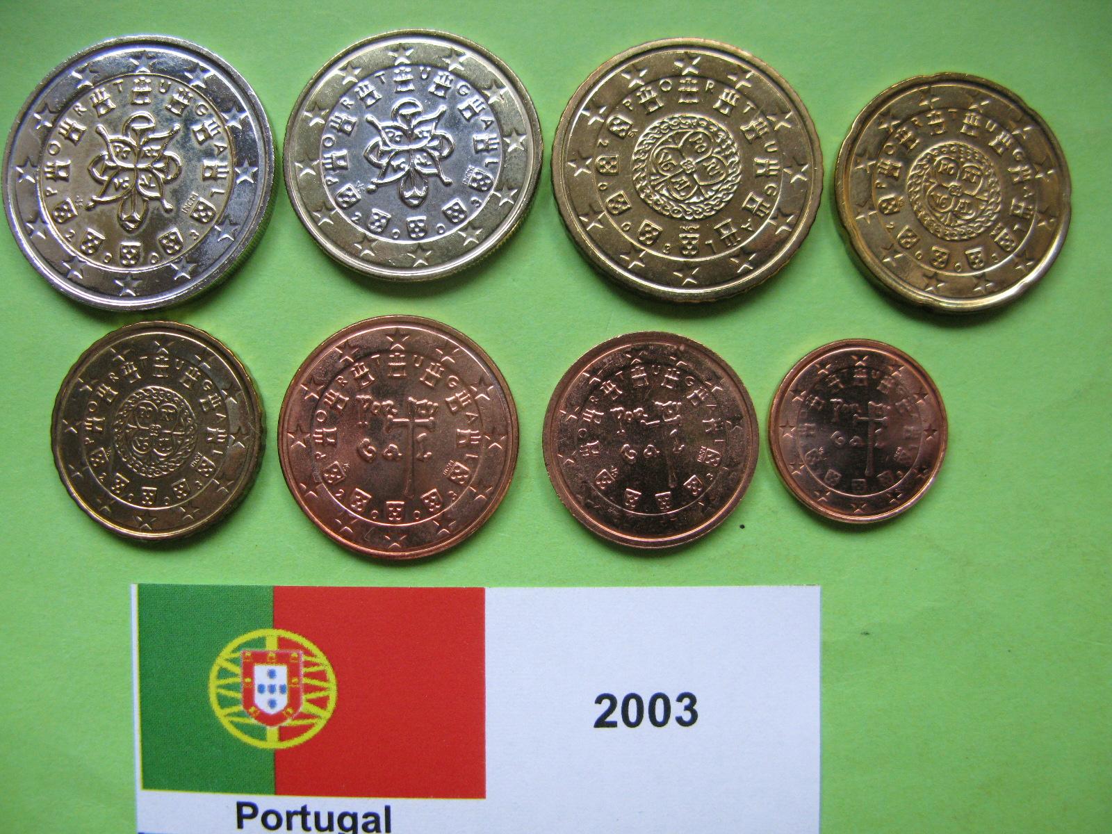 Португалия набор евро  2003 г. UNC