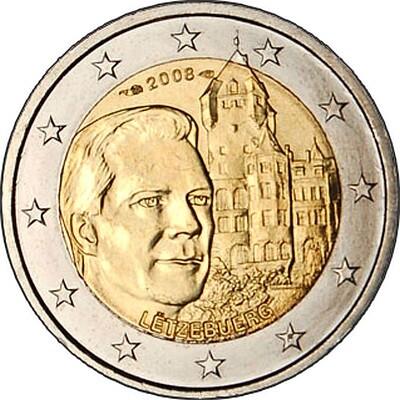 Люксембург 2 евро 2008  Замок Берг
