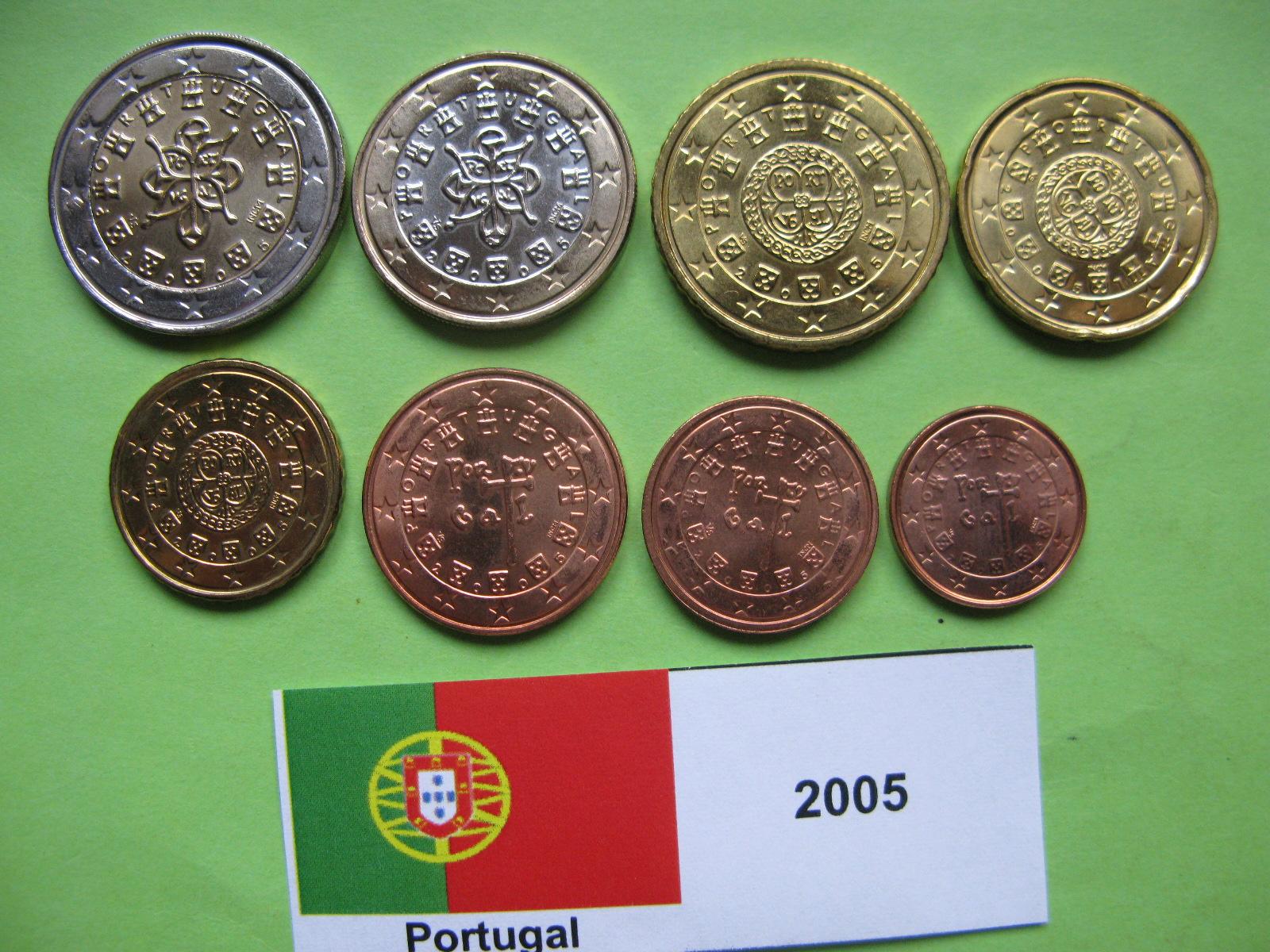 Португалия набор евро  2005 г. UNC
