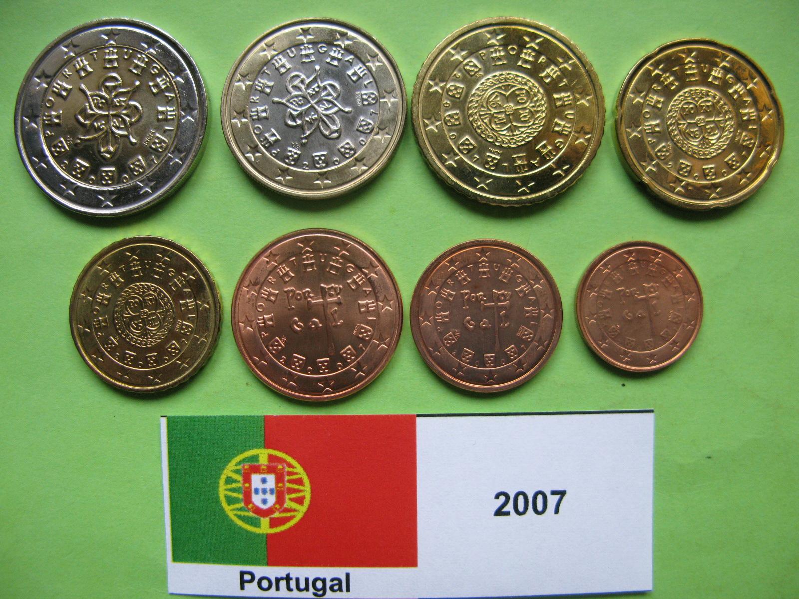 Португалия набор евро  2007 г. UNC