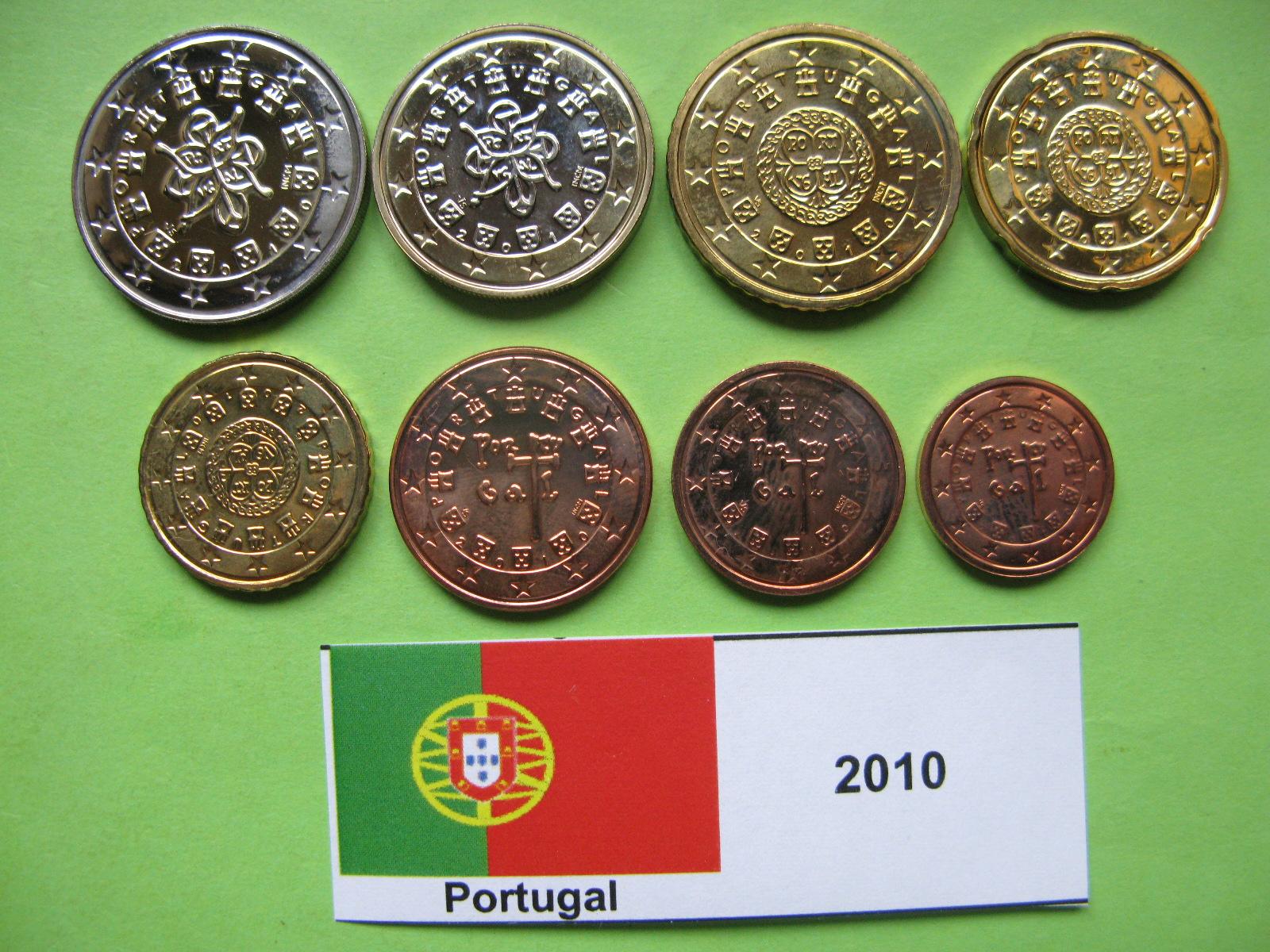 Португалия набор евро  2010 г. UNC