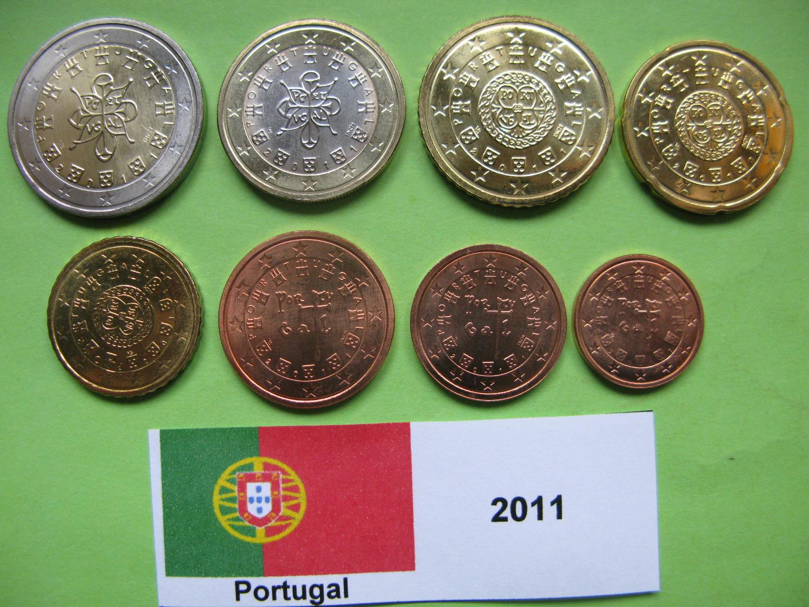 Португалия набор евро  2011 г. UNC