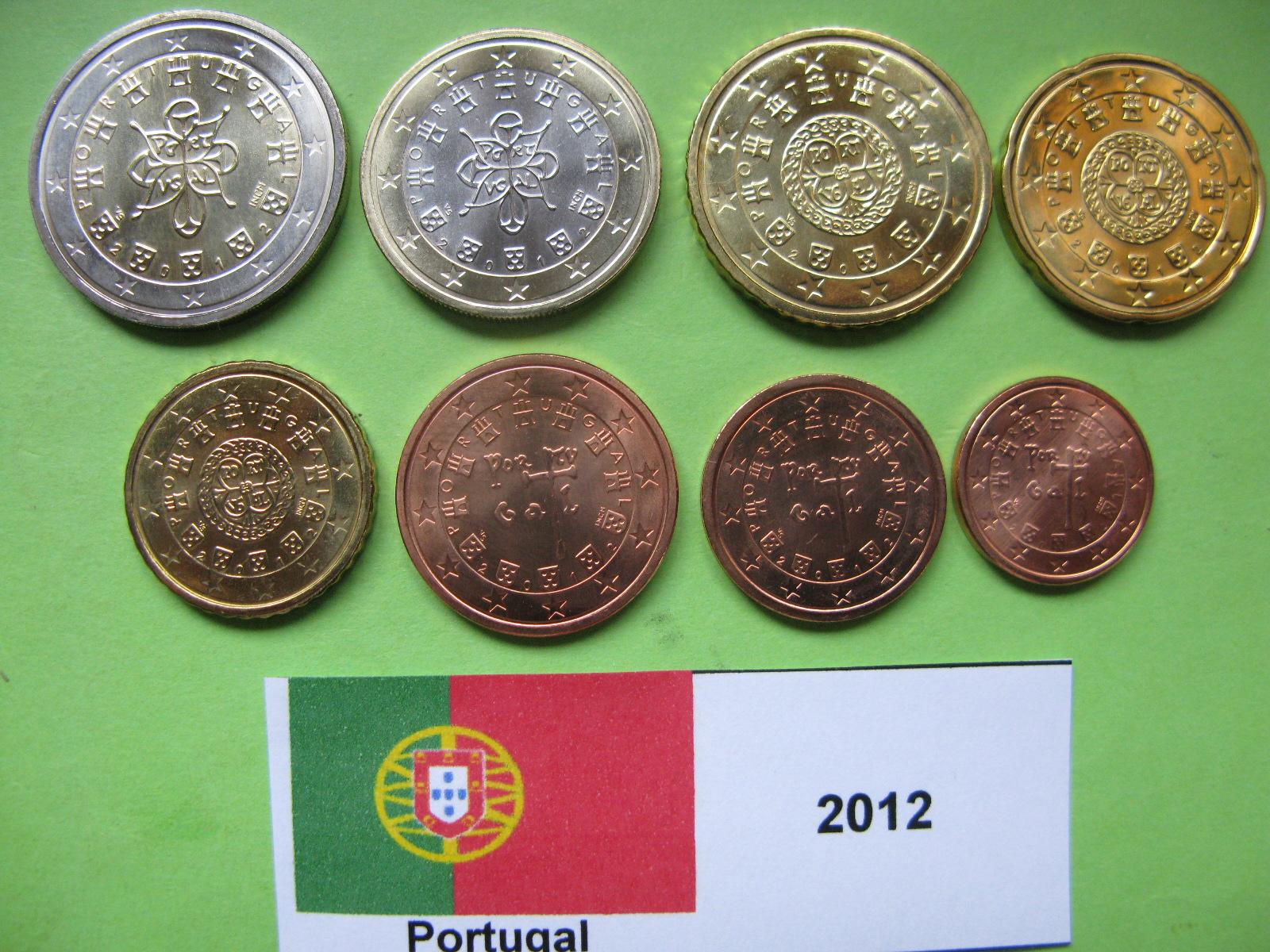 Португалия набор евро  2012 г. UNC