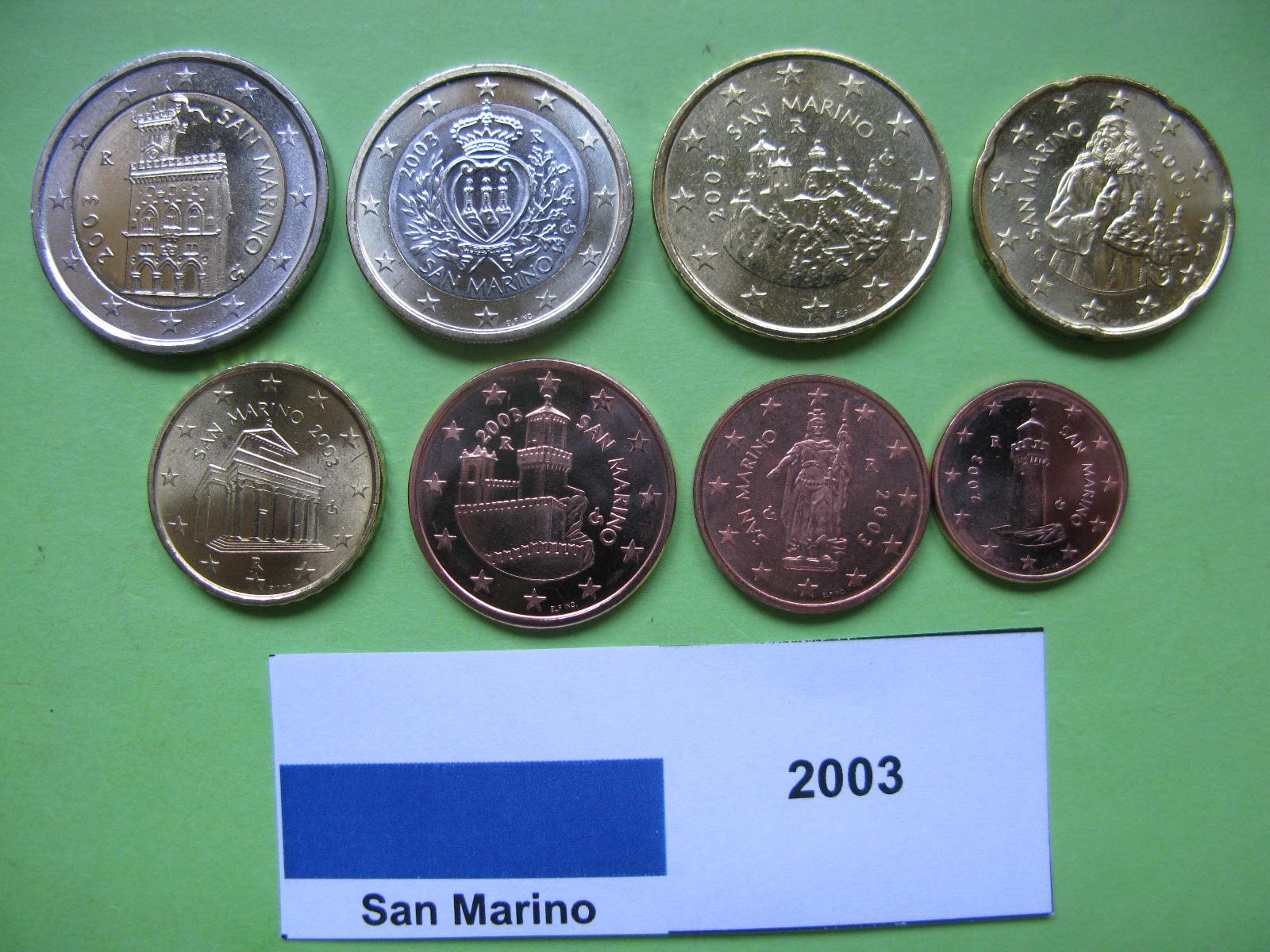 Сан Марино набор евро 2003 г. UNC