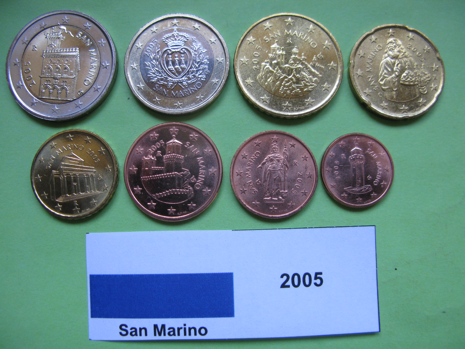 Сан Марино набор евро 2005 г. UNC