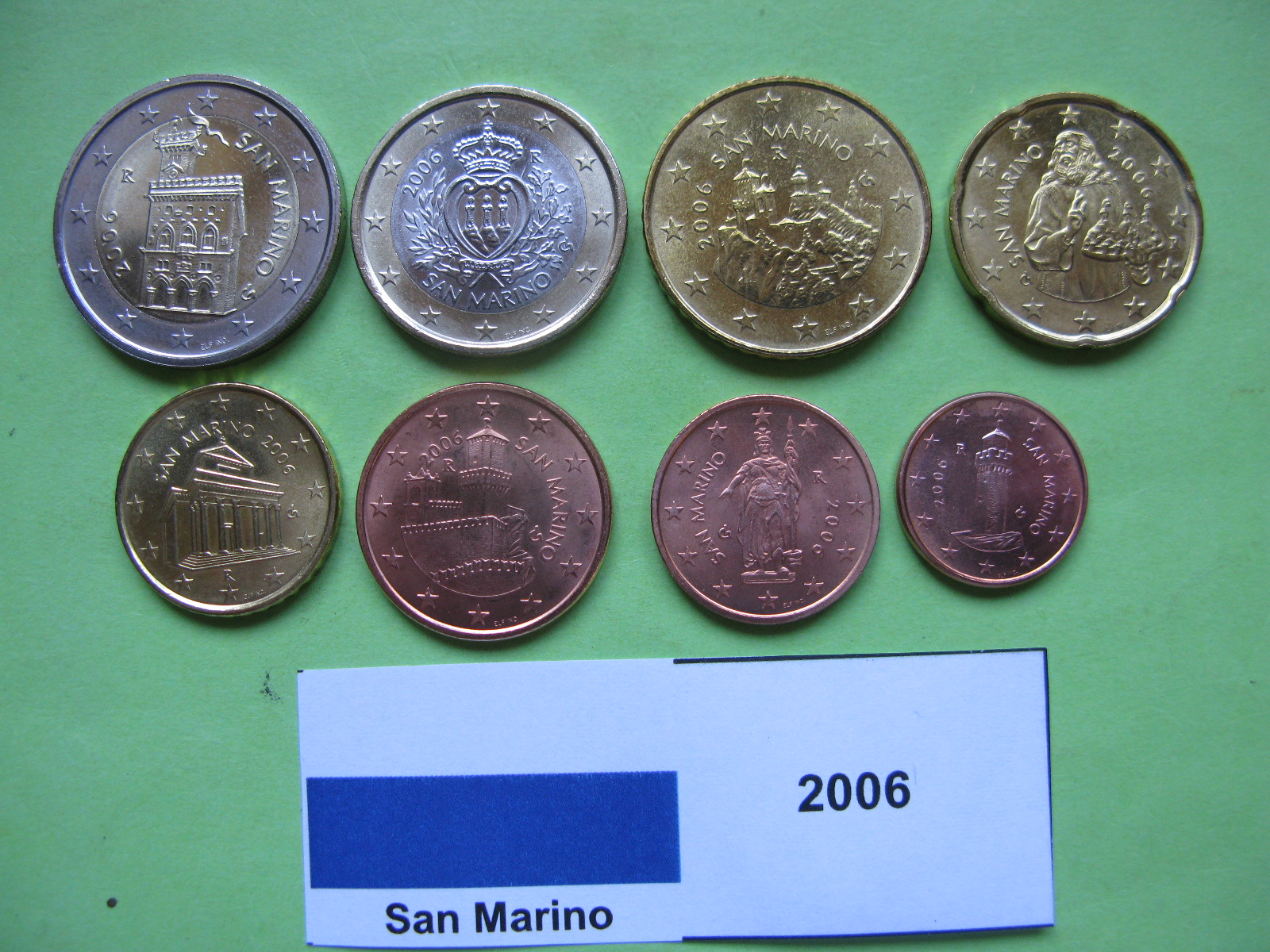 Сан Марино набор евро 2006 г. UNC