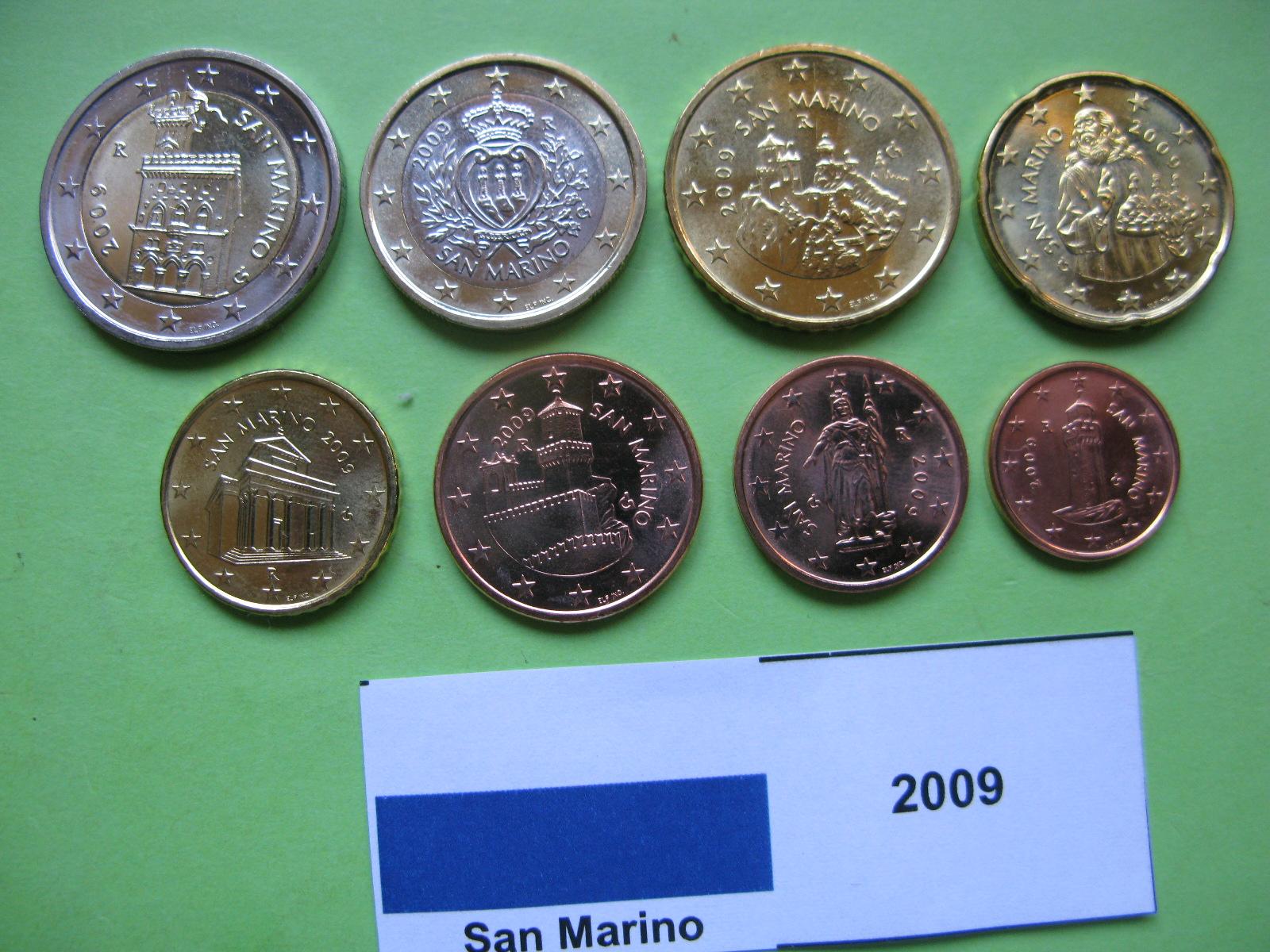 Сан Марино набор евро 2009 г. UNC