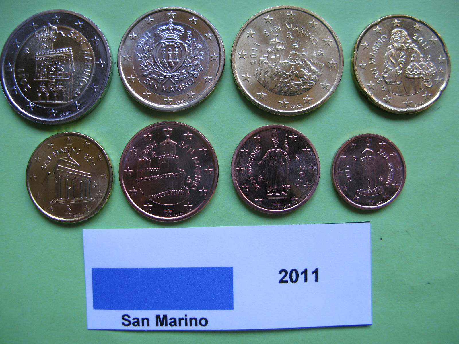 Сан Марино набор евро 2011 г. UNC